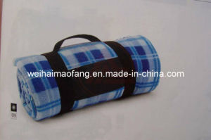 Very Soft 100%Polyester Polar Fleece Picnic Blanket pictures & photos