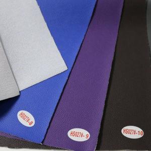 Anti- Mildew &Abrasion Resistant Litchi Grain PVC Leather (HS027#) pictures & photos