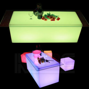 LED Cube Table Square Wedding Table LED Illuminated pictures & photos
