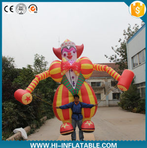 2016 Hot Sale Inflatable Clown Cartoon Character with Long Legs for Advertising
