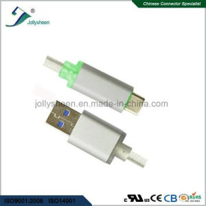 Type C to USB 3.0 a/M Cable for Smart Charging and Data Transfer with LED Light pictures & photos