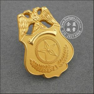 Gold Plated Military Badge Custom Security Badge (GZHY-BADGE-086) pictures & photos
