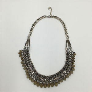 Multilayers Alloy Necklace Beads Jewelry Necklace