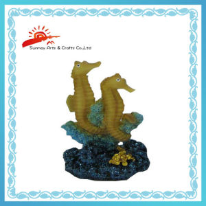 Resin Sea Horse Figurine for Garden Decor (SMG88041) pictures & photos