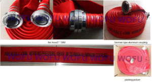 "3"" Rubber Fire Hose with British Aluminum Coupling pictures & photos"
