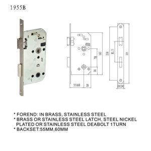 German Door Handle Lock Body pictures & photos