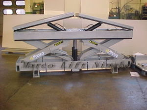 Marco Twin Scissor Lift Table with Tilt Platfrom pictures & photos