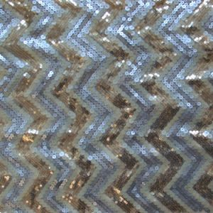 Polyester Mesh Embroidery with Multi Size Sequin (MMS1009)