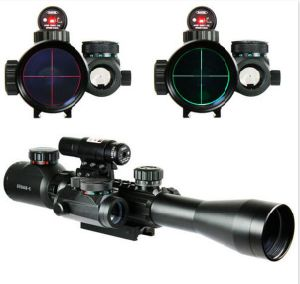 3-9X40 Illuminated Tactical Rifle Scope with Red Laser & Holographic DOT Sight pictures & photos