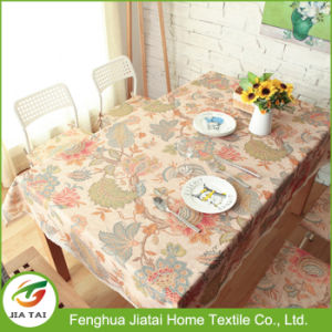 Custom Wholesale Home Dining Rectangular Polyester Lace Tablecloth pictures & photos