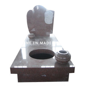 European Style Red Granite Grave Funeral Tombstone & Monument for Cemetery pictures & photos