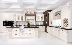2017 New Style White Solid Wood Kitchen Furniture Hot Sales Free Design (zq-002) pictures & photos