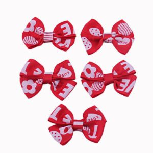 Red Grosgrain Ribbon Bow pictures & photos