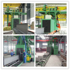 China Manufacturer Steel Plate/ H Profile Shot Blasting Cleaning Machine pictures & photos
