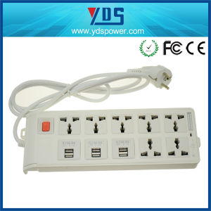 6 Port Travel USB Outlet Power Strip with Long Cord pictures & photos