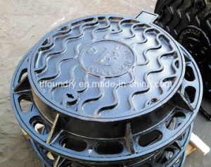 Round Ductile Cast Iron D400 Manhole Cover with Frame (DN600) pictures & photos