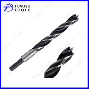 Black&White Roll&Polished Brad Point Wood Drill Bit for Wood Drilling