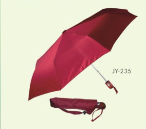 Automatic Open and Close Pongee 3 Fold Umbrella (JY-235) pictures & photos