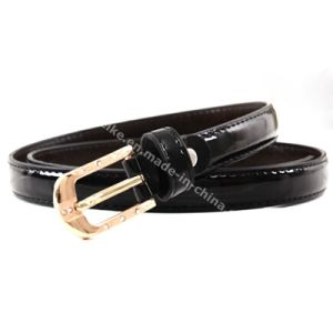 Fashion Candy Color Skinny Women Belts with Rhinestone Buckle pictures & photos