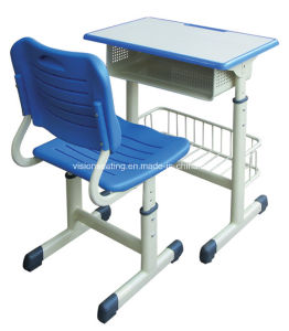 Primary Elementary Grade High School Desk and Chair (7505) pictures & photos