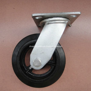 Heavy Duty Cast Iron Rubber Roller Bearing Pallet Truck Load Caster