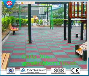 Gym Rubbr Tiles Outdoor Safety Sports Rubber Flooring Tile, Playground Rubber Tiles, Recycle Rubber Tile pictures & photos