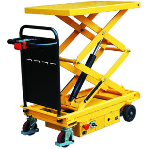 Self-Propelled Electric Hydraulic Scissor Lift Table Truck pictures & photos