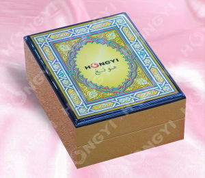 Printing Art Work Lid MDF High Glossy Magnetic Wood Box (HYW045)