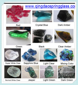 Decorative Colored Glass Rocks Used in Garden (paving) & Square & Fireplace Decoration pictures & photos