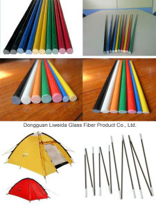 Anti-Corrosion Fiberglass FRP Rod/Bar with Lightweight for Tent Pole