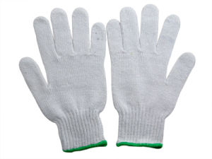 Bleach White Cotton Glove pictures & photos