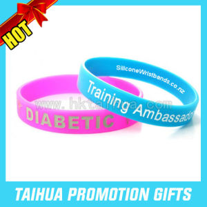Custom Company Website Silicone Bracelets Wristband (TH-band011) pictures & photos