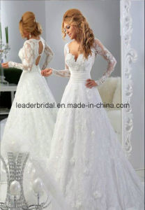 Applique Bridal Wedding Dresses Long Sleeve Lace Ball Gowns Z2084 pictures & photos