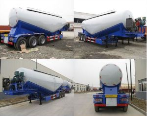 3 Axle 55cbm Bulk Cement Powder Material Transport Tanker Semi Trailer