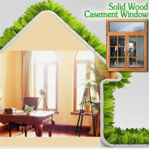 High Quality Solid Wood Casement Window with Grille Design, Perfect Aluminum Red Oaken Wood Casement Windows pictures & photos