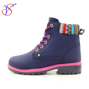 2017 New Style Injection Man Women Safety Working Work Boots Shoes for Job (SVWK-1609-015 BLUE)