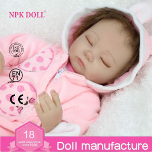 16 Inch Vinyl Reborn Baby Dolls Sleeping Girl Doll Soft Sweets Silicone Bebe Reborn Doll Candy Toy Christmas Gift for Kids NPK Doll Brand