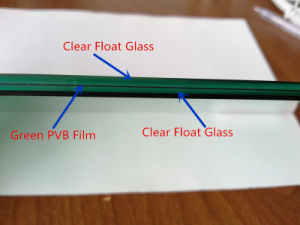 Dark Green Laminated Safety Glass pictures & photos