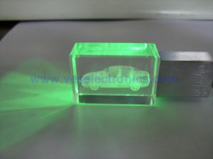 2015 LED Light Customized Crystal USB Memory Stick pictures & photos