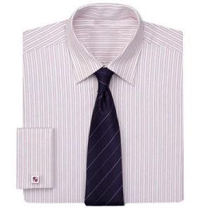 T/C 65/35 Y/D Stripe Men′s L/S Shirt with Tie (ZF052)