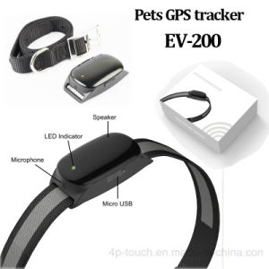 Real Google Map Tracking Pet GPS Tracker with Collar (EV-200) pictures & photos