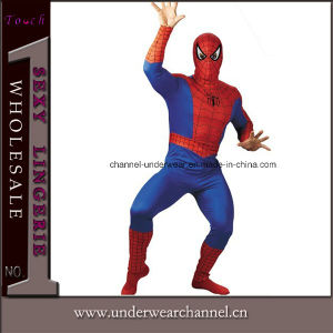 Halloween Men Spider Long Sleeve Bodysuit Adult Costume (0043) pictures & photos