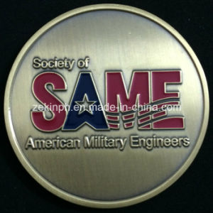 Customized Antique Gold Finish Metal Challenge Coins pictures & photos