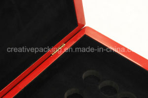 Red Color Wooden Coin Box for Packaging pictures & photos
