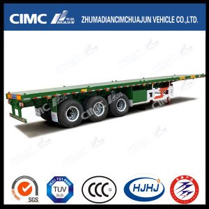 40FT 3axle Flatbed Carrying Container Semi Trailer pictures & photos