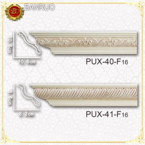 Carving Cornice Moulding (PUX40-F16, PUX41-F16) pictures & photos