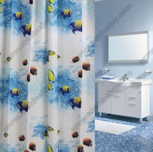 Fish Printed Shower Curtain pictures & photos