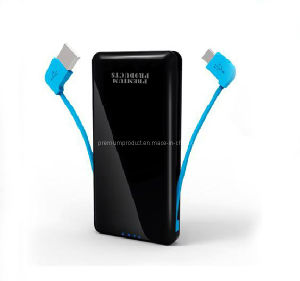 Innovative 2in1 Portable Mobile Cell Phone Charger with Built-in Cable