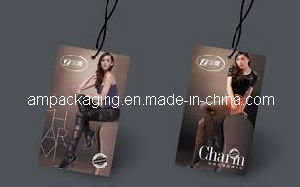 Custom Quality Lady′s Garment Hangtag in Dongguan pictures & photos