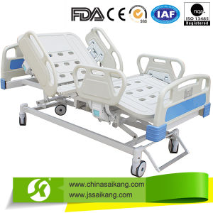 Medical ICU Hospital Bed with ABS Siderail (CE/FDA) pictures & photos